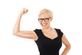 We can do it strong business woman Royalty Free Stock Photography