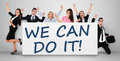 We can do it word writing on banner Stock Image