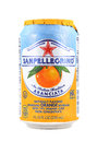 Can of San Pellegrino Sparkling Orange Beverage Royalty Free Stock Photo