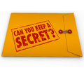 Can You Keep a Secret Yellow Envelope Stamp Royalty Free Stock Photo