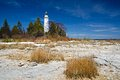 Cana island lighthouse door counties Royalty Free Stock Photography
