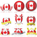Canada badges Royalty Free Stock Photography
