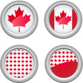 Canada Buttons Stock Images