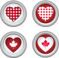 Canada Buttons3 Stock Image