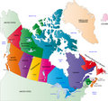 Canada color map Royalty Free Stock Photo