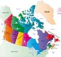 Canada color map
