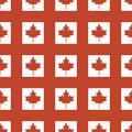 Canada country flag symbol maple leaf pattern seamless canadian background freedom vector illustration
