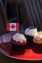 Canada day cupcakes Royalty Free Stock Photo