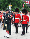Canada Day Piper and Guards, in Ottawa Royalty Free Stock Photo