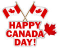 Canada Day stickers. Stock Photo
