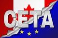 Canada And European Union Flag...
