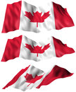 Canada flag angles of the part of a series d illustration Royalty Free Stock Image