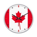 Canada flag on clock Royalty Free Stock Image