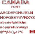 Canada flag font Royalty Free Stock Photo