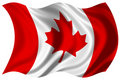 Canada flag isolated Royalty Free Stock Photo