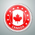 Canada flag label vector badge with s Stock Images