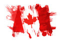 Canada Flag painted Royalty Free Stock Photo