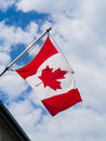 Canada Flag on Pole Stock Photos