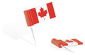 Canada Flag Push-pin Stock Photos