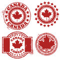 Canada Flag Stamp Royalty Free Stock Image