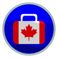 Canada flag suitcase icon Royalty Free Stock Photo