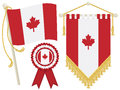Canada flags Royalty Free Stock Photography