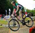 Canada games mountain biking man race jake larsen competes in men s at the august in sherbrooke Royalty Free Stock Photo