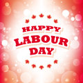 Canada happy labour day Royalty Free Stock Photo