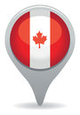 Canada icon an map pointer Royalty Free Stock Image