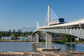 Canada line bridge vancouver – may train passes on may the is vancouver's new rapid transit rail link Stock Photography