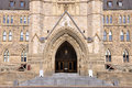 Canada Parliament Building Gate Royalty Free Stock Photo