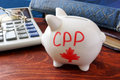 Canada Pension Plan concept. Royalty Free Stock Photo