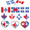 Canada and Quebec Royalty Free Stock Photography