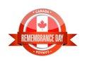 Canada Remembrance Day Seal Il...