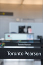 Canada s pearson international airport toronto august one of largest and busiest in the world about planes take off or land in a Stock Photo