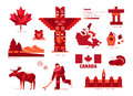 Canada sign and symbol, Info-graphic elements. Royalty Free Stock Photo