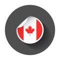 Canada sticker with flag.