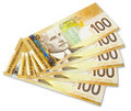 Canadian Banknote Royalty Free Stock Photo