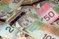 Canadian Bills ($20, $50, $100) Royalty Free Stock Image