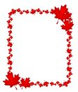 Canadian Day Maple Leaf Border Royalty Free Stock Image