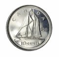 Canadian dime Royalty Free Stock Photo