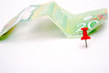 Canadian dollar bill on white background Stock Photo