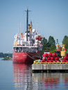 Canadian fisheries and oceans vessel tracy the vessle docked in prescott ontario canada Stock Photos