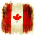 Canadian flag grunge painted effect Royalty Free Stock Photo