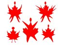 Canadian Maple Leaf dancing or exercising Royalty Free Stock Photos