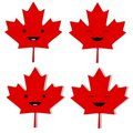 Canadian Maple Leaf Smilies Royalty Free Stock Photo