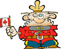 Canadian mountie with a flag of canada Royalty Free Stock Image