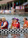 Canadian National Womens Premier Dragon Boat Royalty Free Stock Images