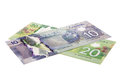 Canadian paper money Royalty Free Stock Photo