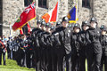 Canadian police officers at parliament hill Stock Image